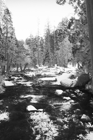 River runs through it in Black and White (Infrared)